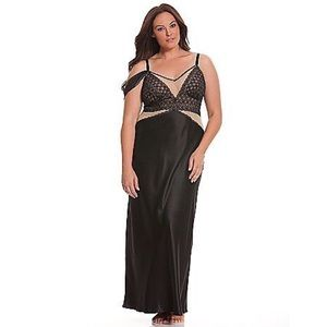 Sophie Theallet Cacique Satin Nightgown